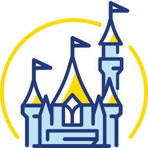 The Mickey Central castle logo.