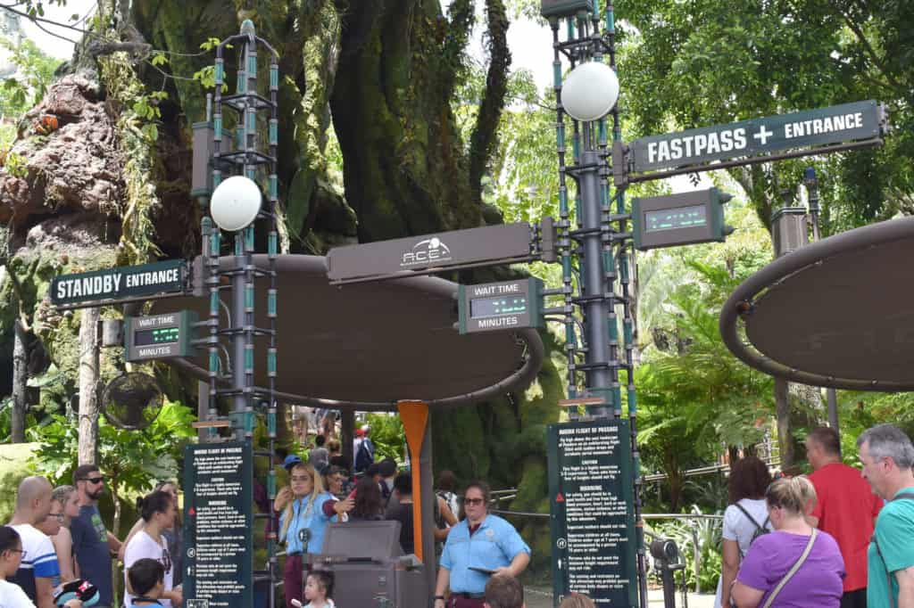 Avatar Flight of the Passage Fast Pass and Line Entrance