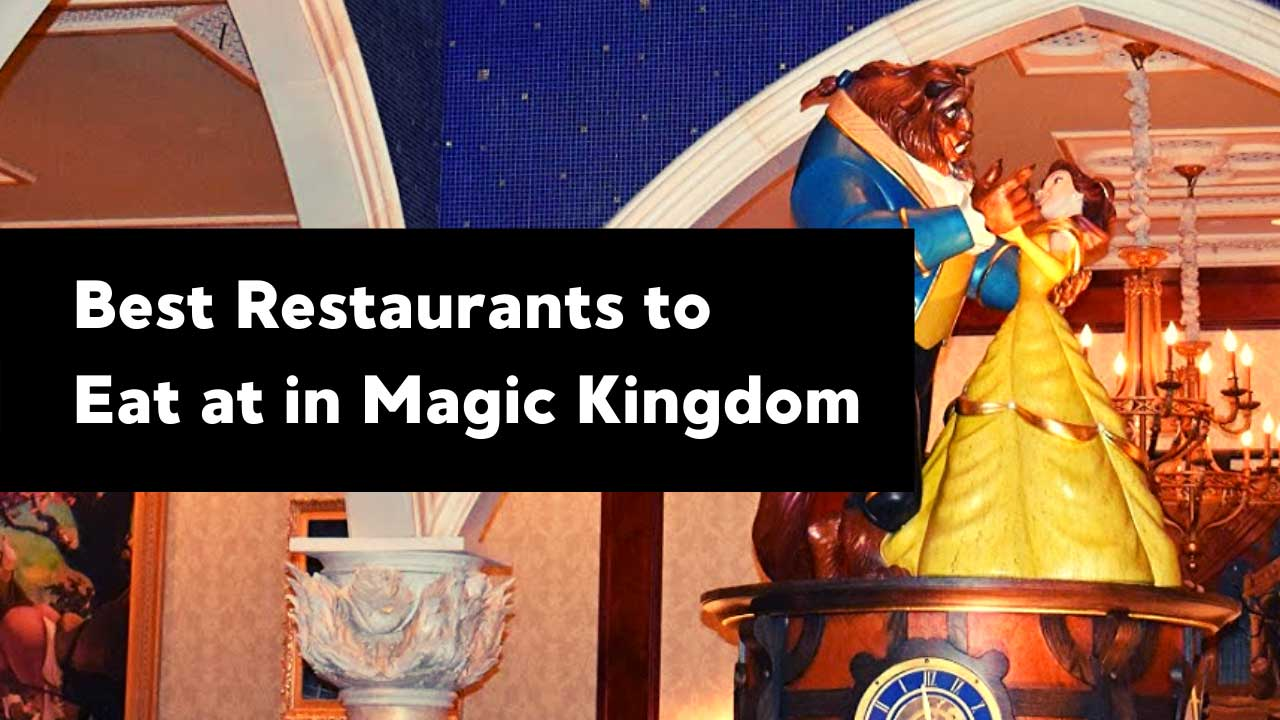 Be Our Guest Restaurant featuring Belle and Beast.