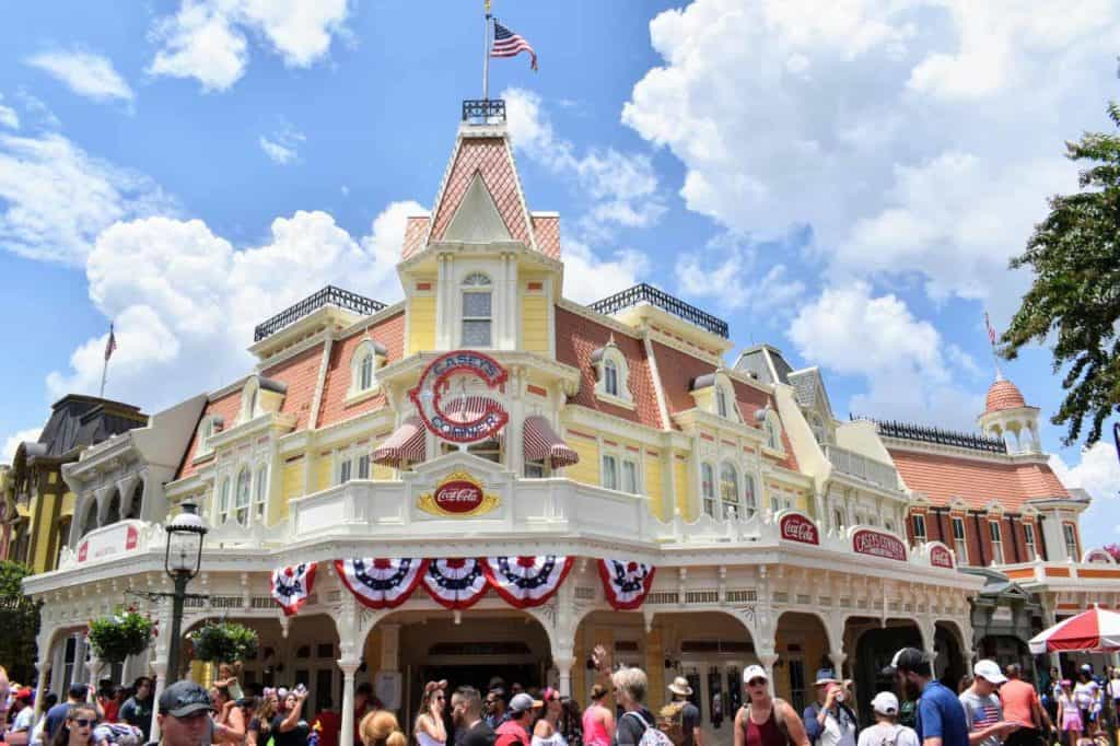 Casey's Corner exterior at Magic Kingdom.