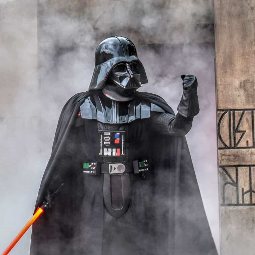 Darth Vader at Disney World.