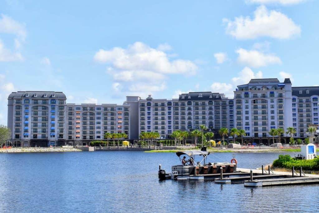 Disney's Riviera Resort as seen from Disney's Caribbean Beach Resort