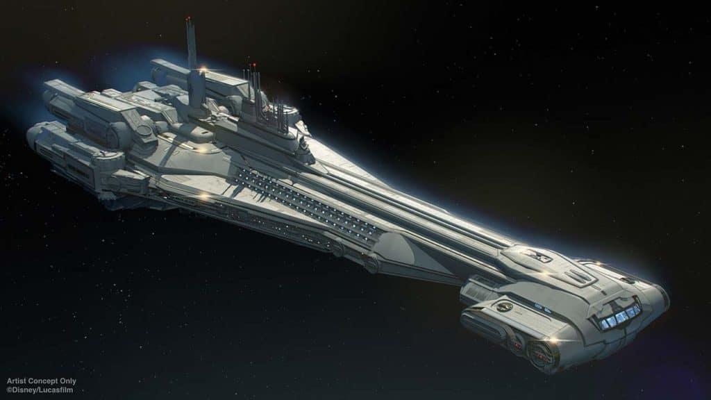 Galactic Starcruiser Ship Concept Art.