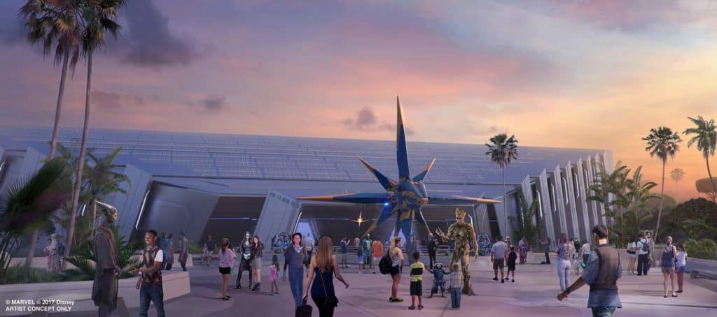 Guardians of the Galaxy: Cosmic Rewind concept art.