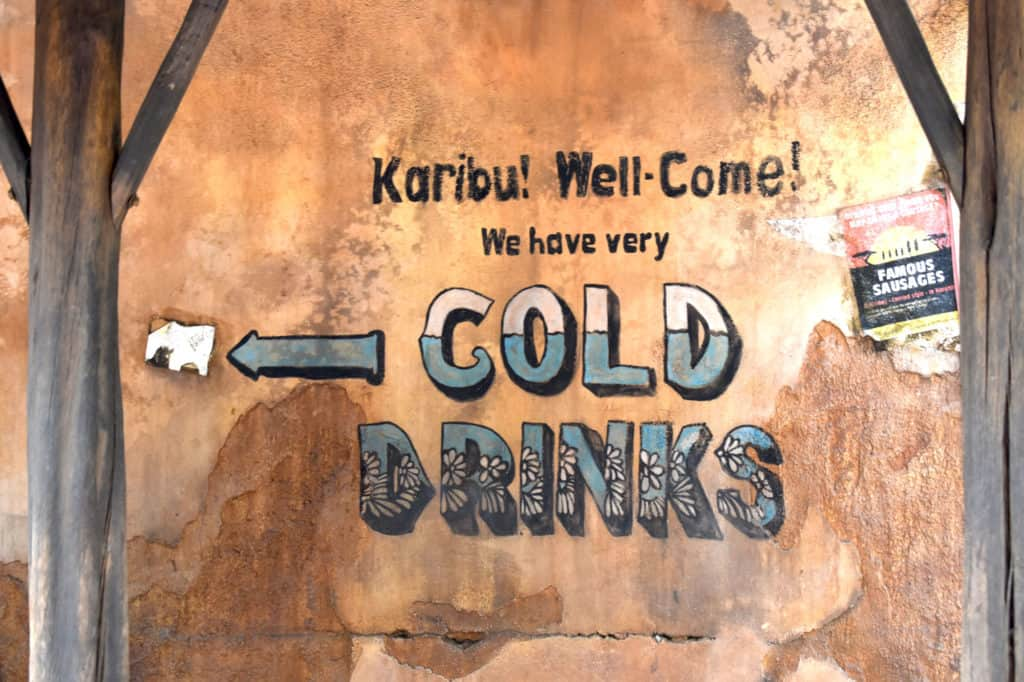 Karibu! sign cold drinks at Disney's Animal Kingdom