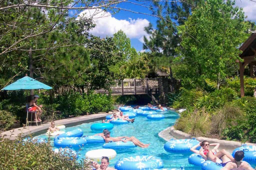 Cross County Creek Lazy River at Blizzard Beach Water Park.
