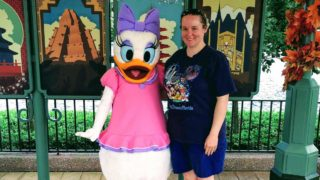 Meet Daisy near World Showcase Plaza