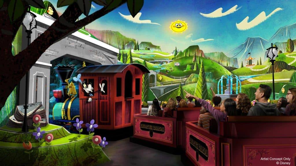 Mickey and Minnie's Runaway Railway Concept Art. Credit Disney