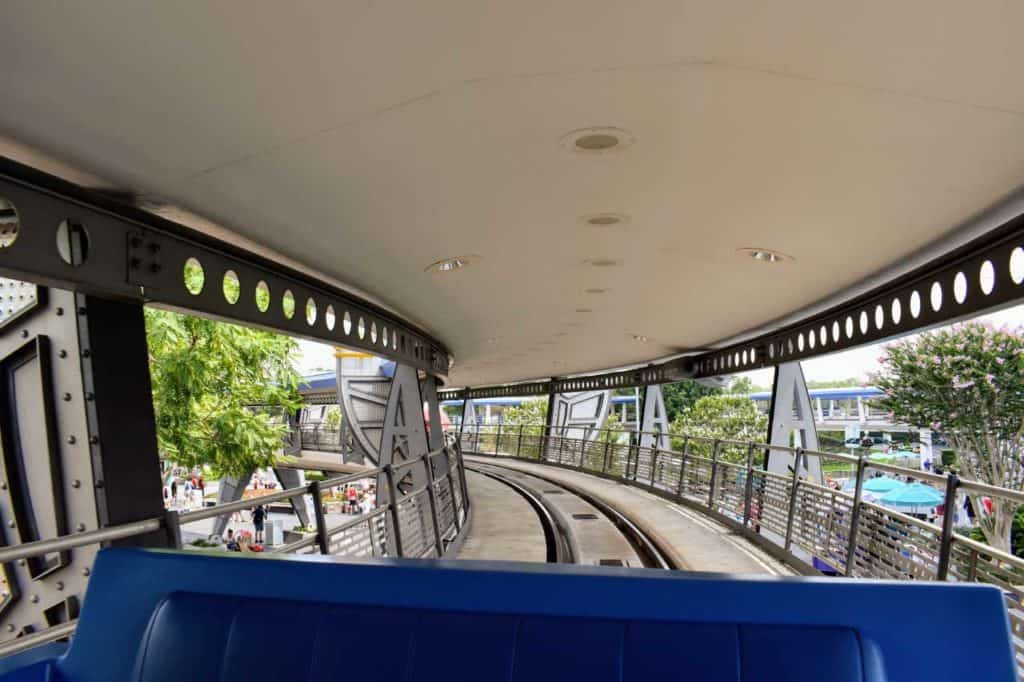 Point-of-view on the PeopleMover.