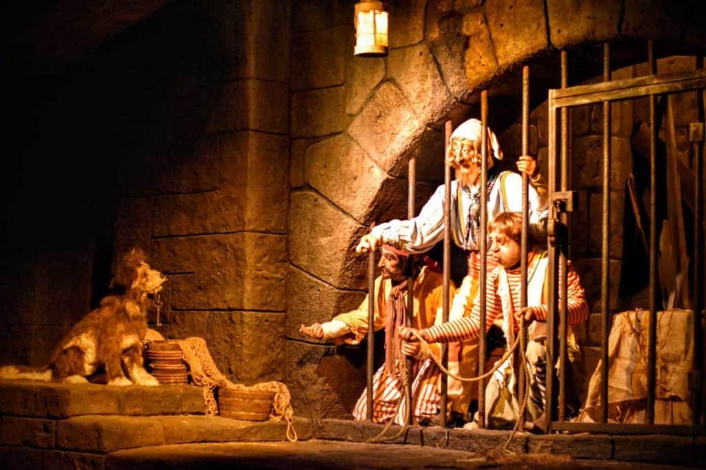 Prison Dog Scene in Pirates of the Caribbean.