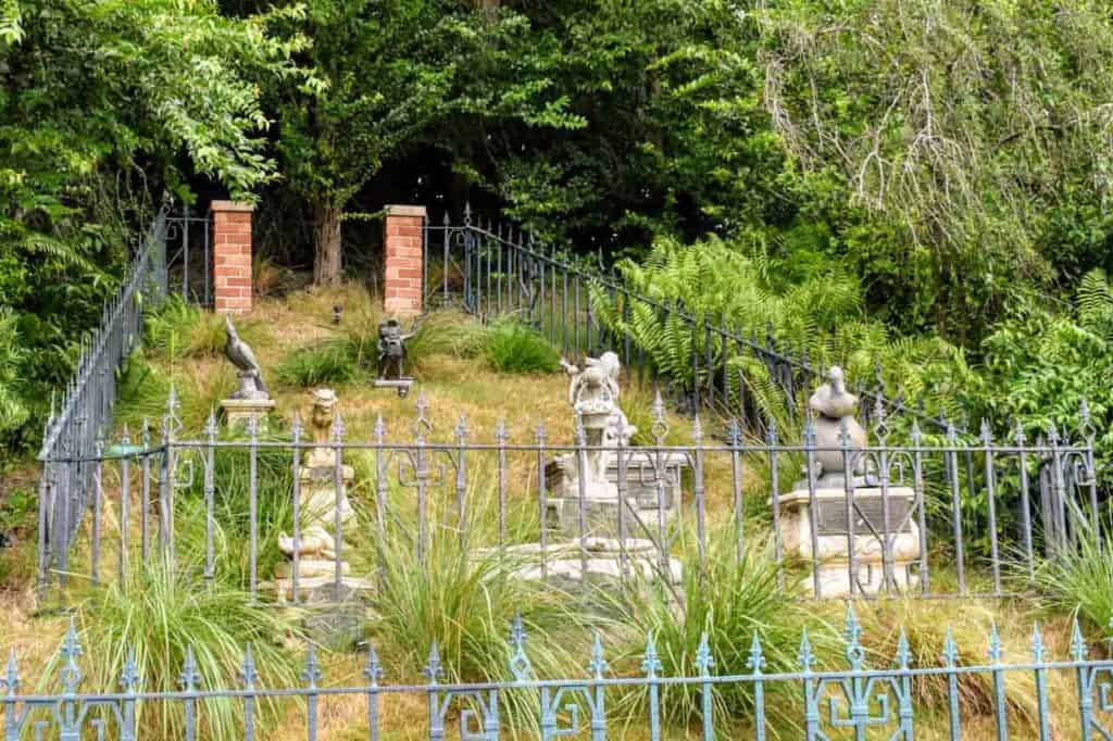 The graveyard at The Haunted Mansion.