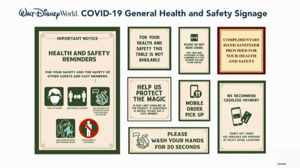 Walt Disney World COVID 19 General Health and Safety Signage