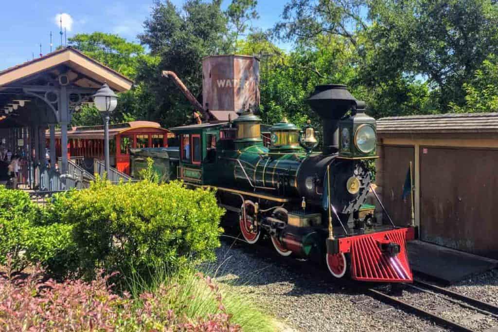Walt Disney World Railroad – Lilly Belle train at Fantasyland.
