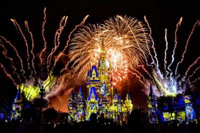 Cinderella Castle Nighttime Fireworks