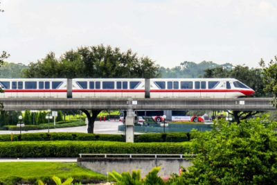 Red Monorail at Disney World