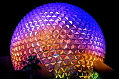 Spaceship Earth at Nighttime