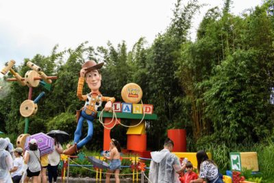 Woody Toy Story Land Entrance Sign